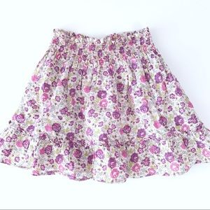 Jacadi Paris Purple Floral Skirt